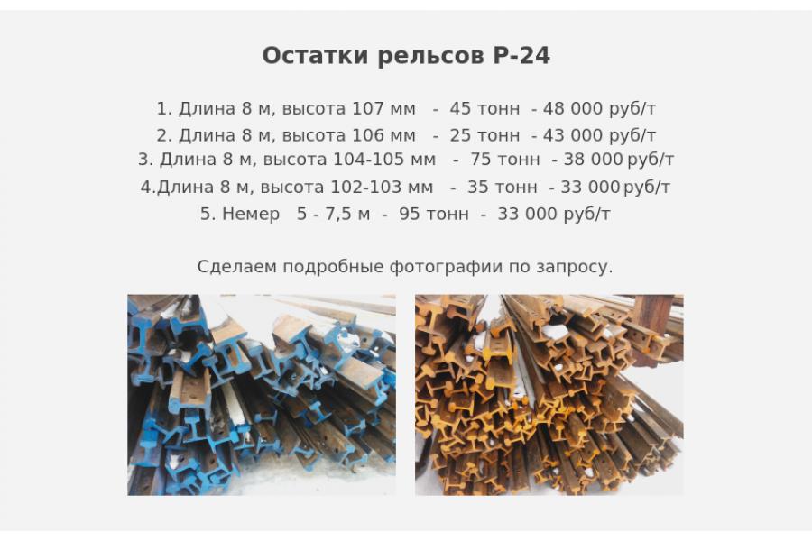 Рельсы Р-24